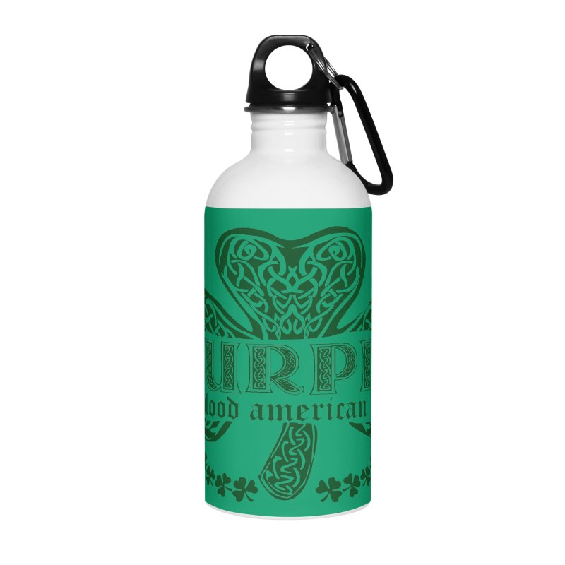 murphy irish proud american heart Accessories Water Bottle by SOE