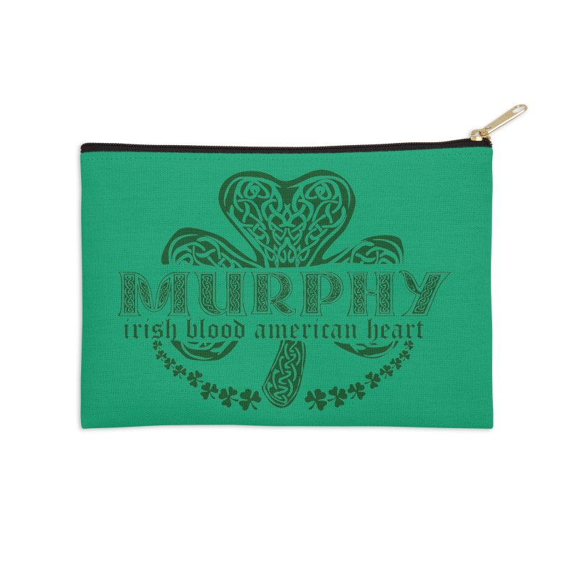 murphy irish proud american heart Accessories Zip Pouch by SOE