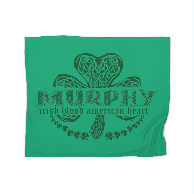 murphy irish proud american heart Home Fleece Blanket by SOE