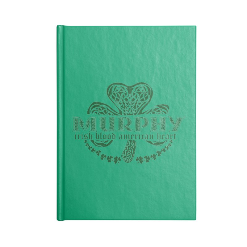 murphy irish proud american heart Accessories Blank Journal Notebook by SOE