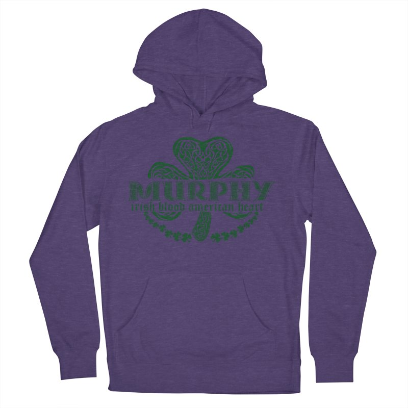 murphy irish proud american heart Men's French Terry Pullover Hoody by SOE