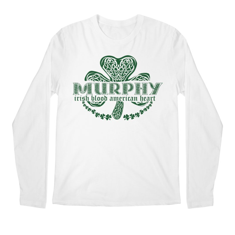 murphy irish proud american heart Men's Longsleeve T-Shirt by SOE