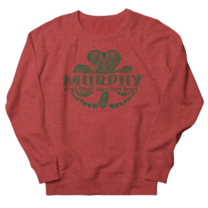 murphy irish proud american heart Men's French Terry Sweatshirt by SOE