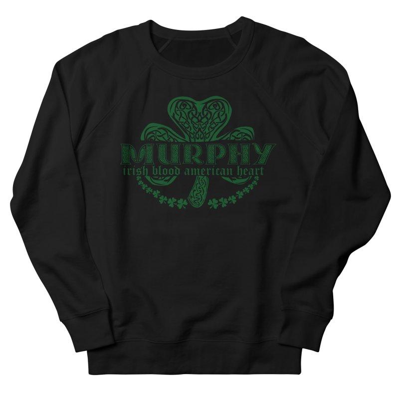 murphy irish proud american heart Men's French Terry Sweatshirt by SOE