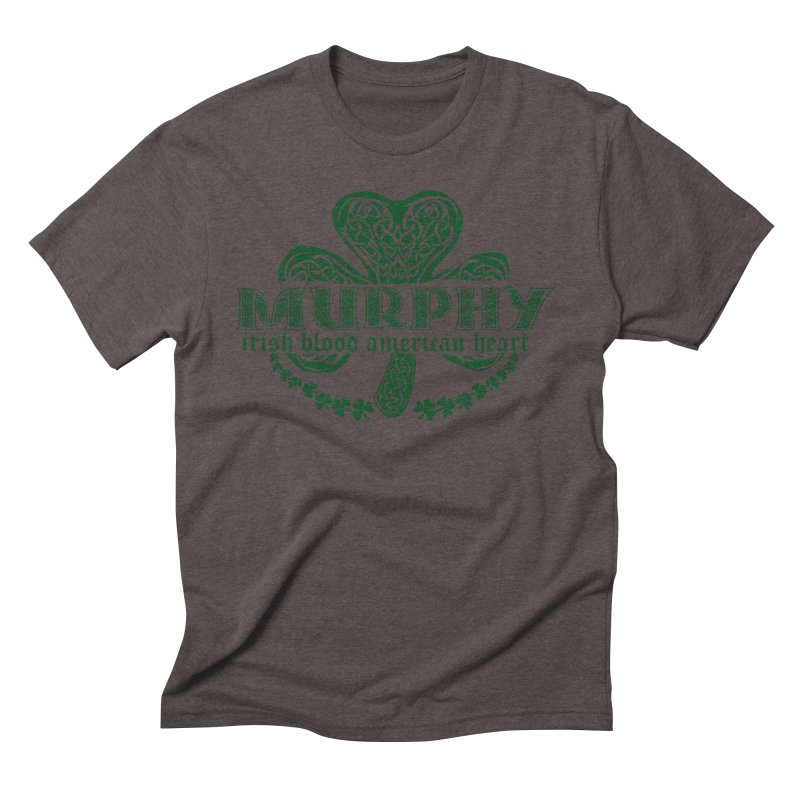 murphy irish proud american heart Men's Triblend T-Shirt by SOE