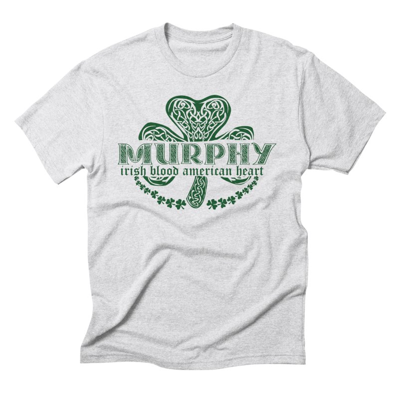 murphy irish proud american heart Men's Triblend T-Shirt by SOE