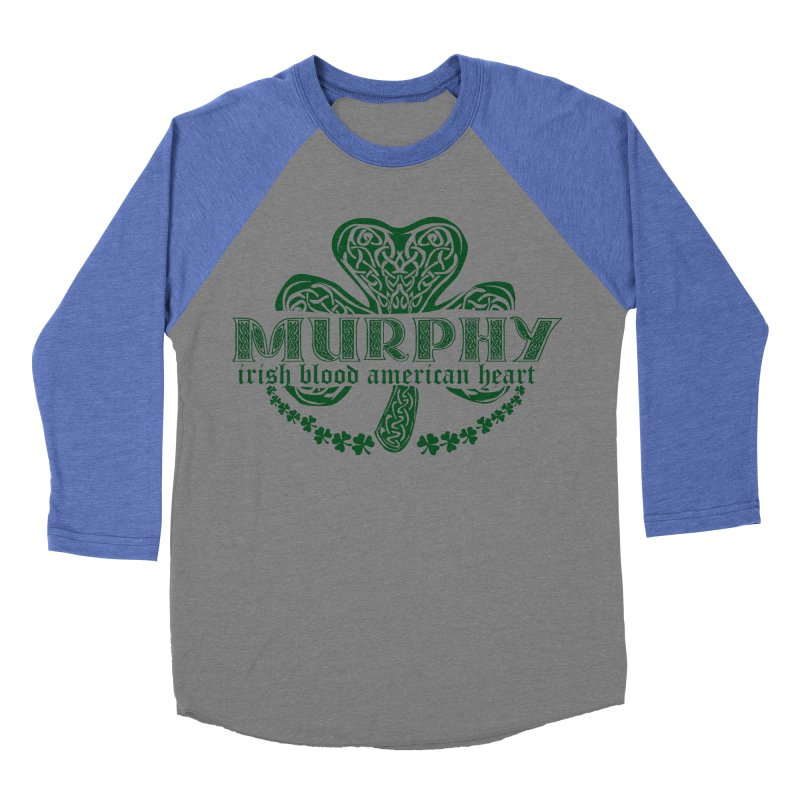 murphy irish proud american heart Men's Baseball Triblend Longsleeve T-Shirt by SOE