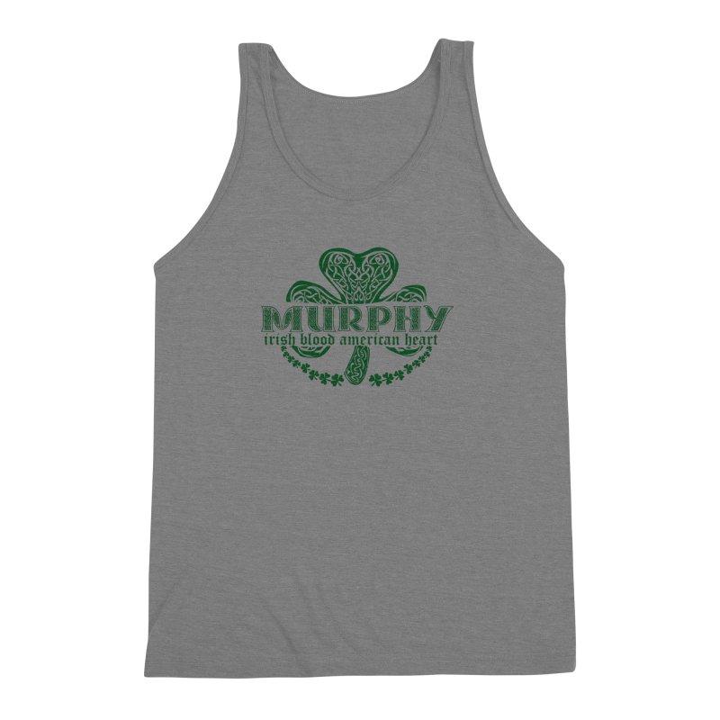 murphy irish proud american heart Men's Triblend Tank by SOE