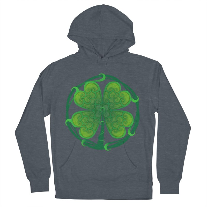 shamrock leaf Women's French Terry Pullover Hoody by SOE