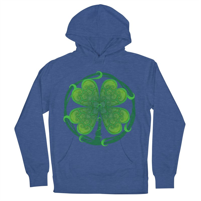 shamrock leaf Men's French Terry Pullover Hoody by SOE