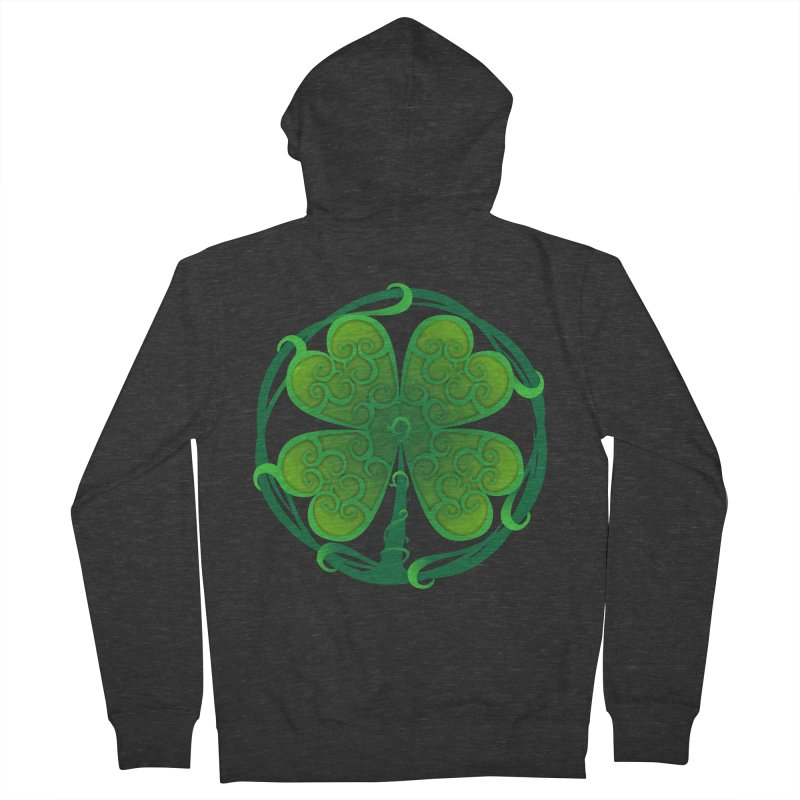 shamrock leaf Women's Zip-Up Hoody by SOE