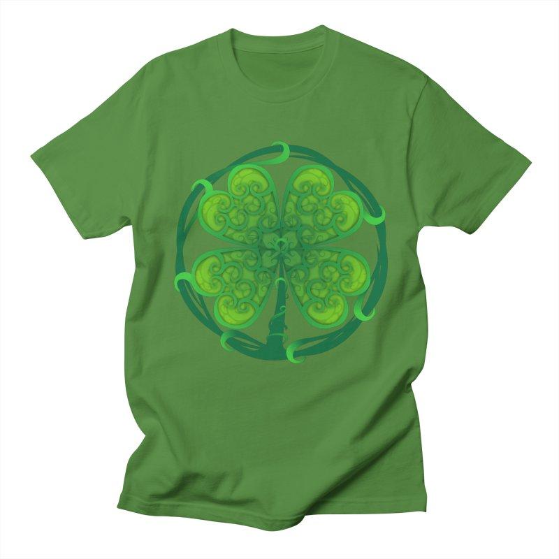 shamrock leaf Men's T-Shirt by SOE