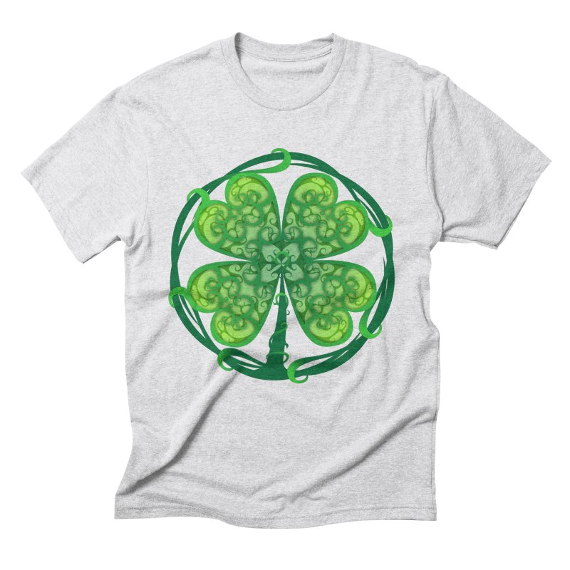 shamrock leaf Men's Triblend T-Shirt by SOE