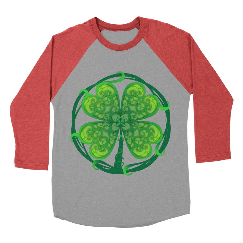 shamrock leaf Men's Baseball Triblend T-Shirt by SOE