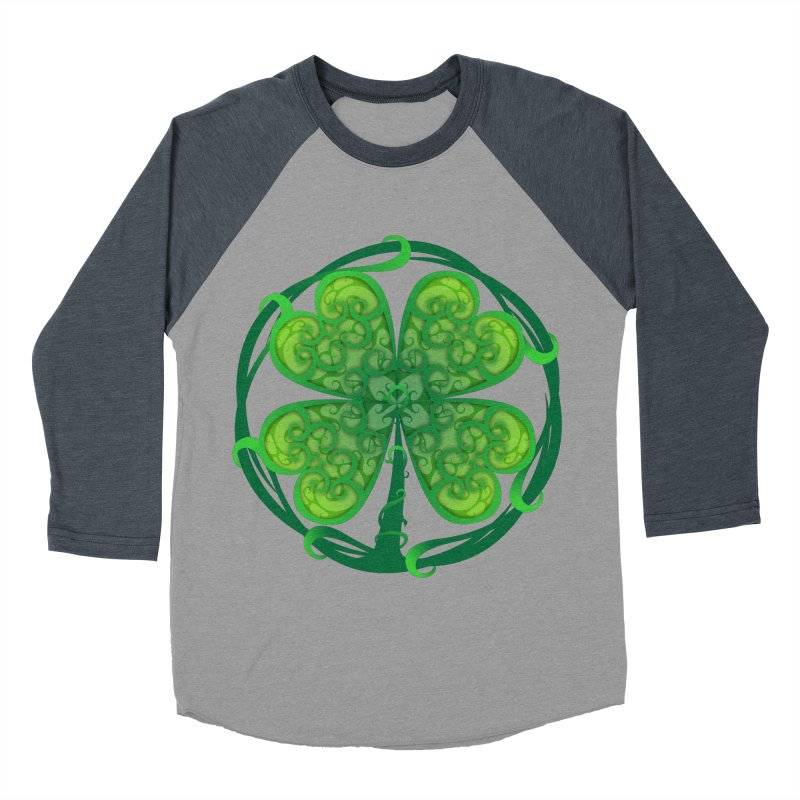 shamrock leaf Men's Baseball Triblend T-Shirt by SOE