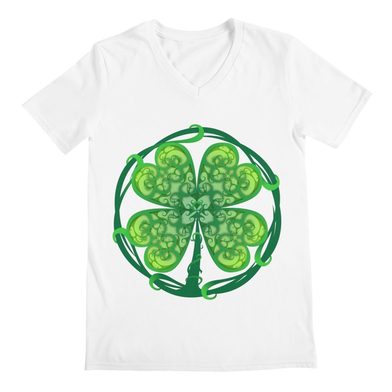shamrock leaf Men's V-Neck by SOE
