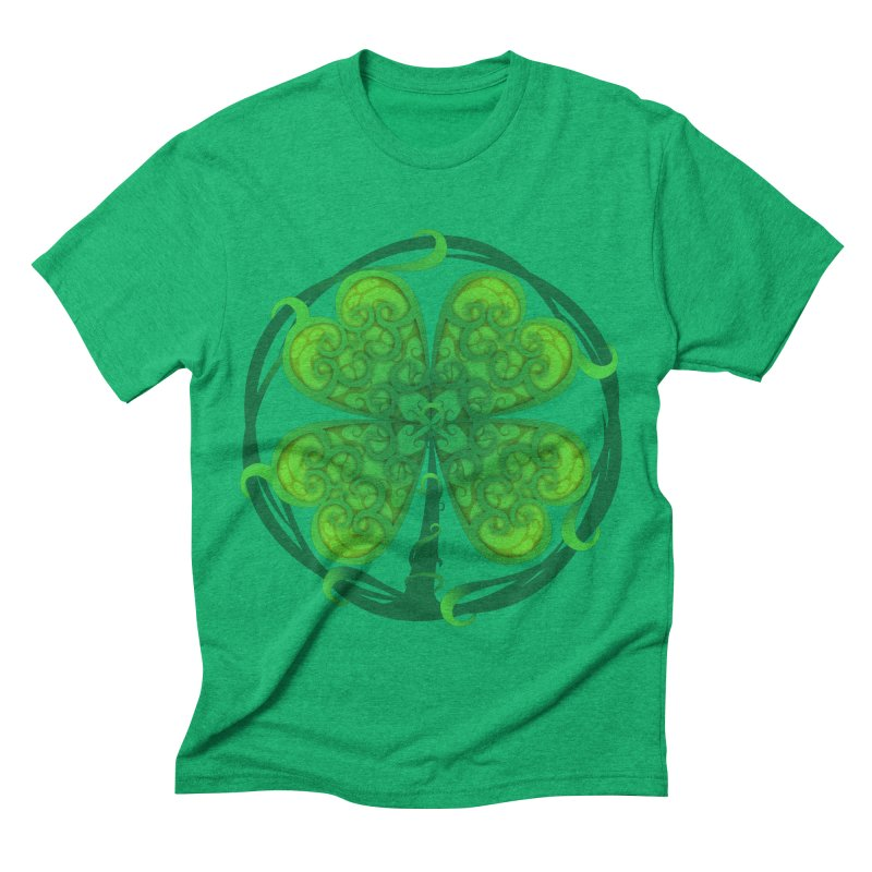 shamrock leaf Men's Triblend T-shirt by SOE