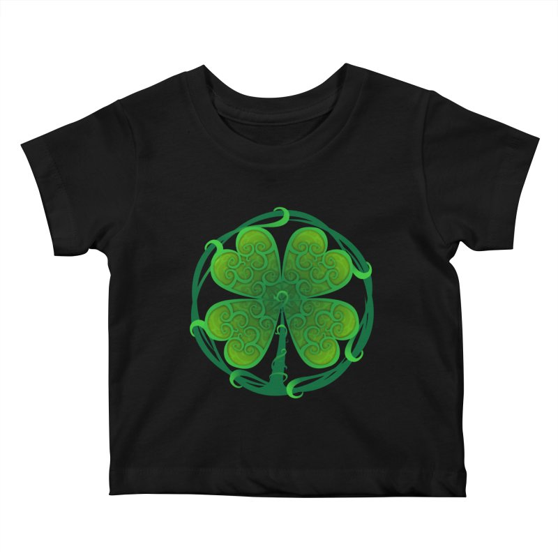 shamrock leaf Kids Baby T-Shirt by SOE
