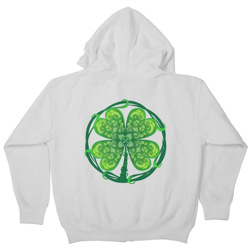 shamrock leaf Kids Zip-Up Hoody by SOE