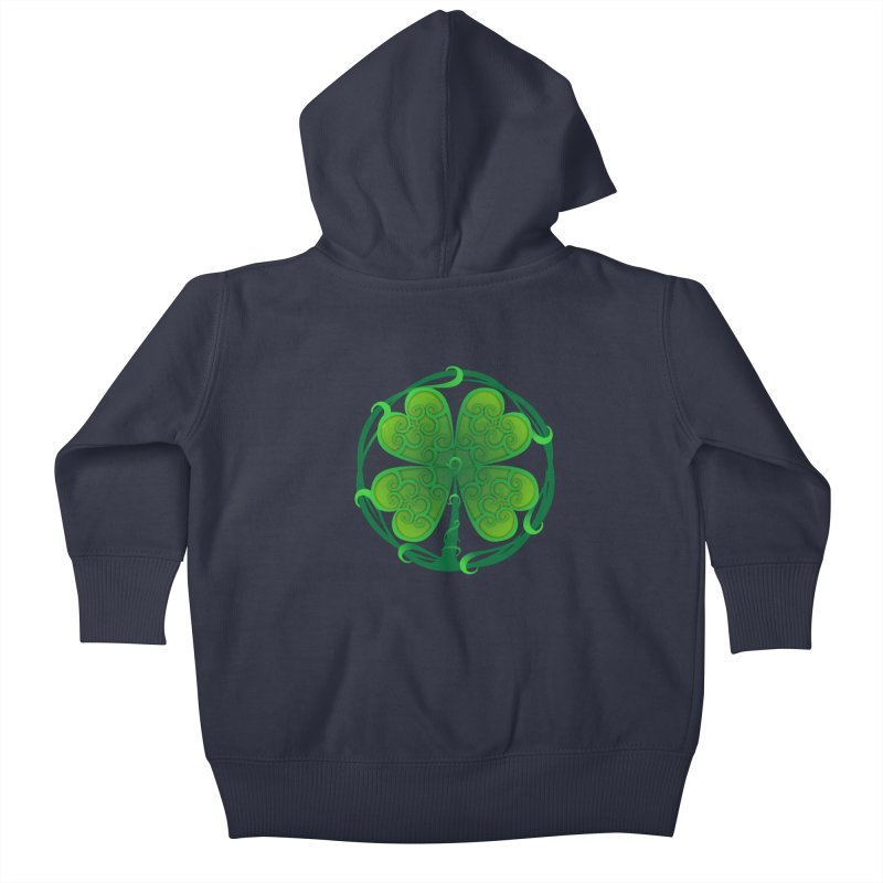 shamrock leaf Kids Baby Zip-Up Hoody by SOE
