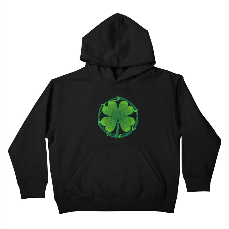 shamrock leaf Kids Pullover Hoody by SOE