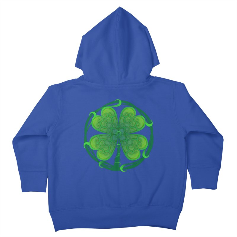 shamrock leaf Kids Toddler Zip-Up Hoody by SOE