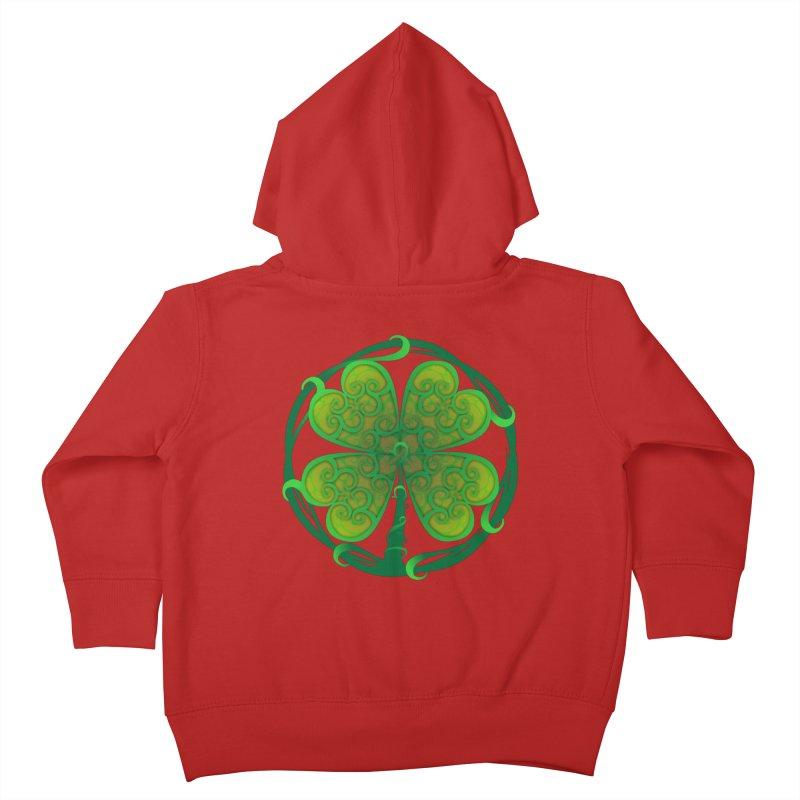 shamrock leaf Kids Toddler Zip-Up Hoody by SOE