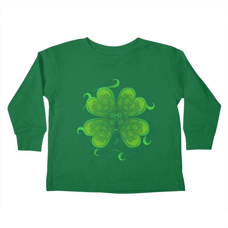 shamrock leaf Kids Toddler Longsleeve T-Shirt by SOE