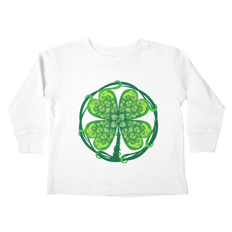 shamrock leaf Kids Toddler Longsleeve T-Shirt by SOE