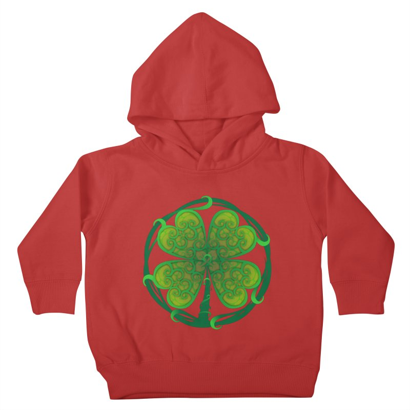 shamrock leaf Kids Toddler Pullover Hoody by SOE