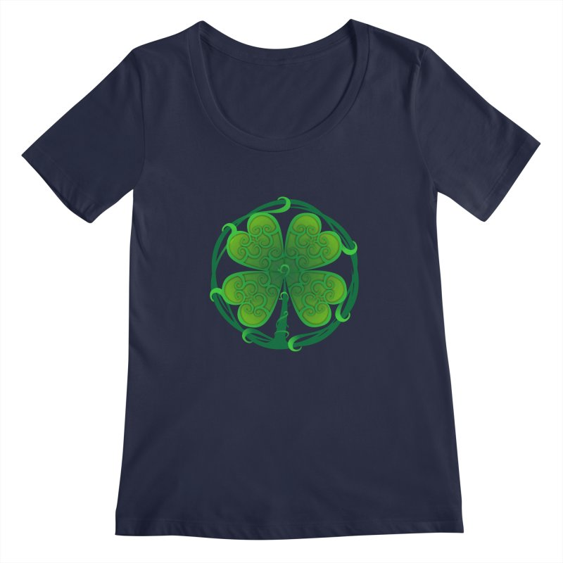 shamrock leaf Women's Scoopneck by SOE