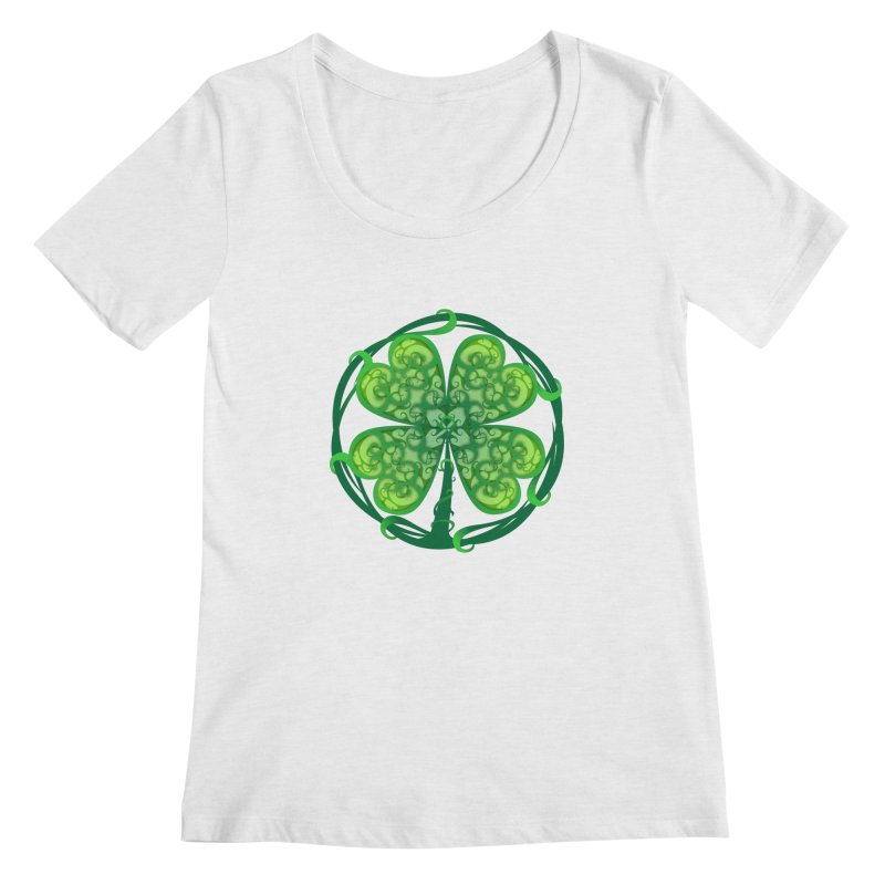 shamrock leaf Women's Regular Scoop Neck by SOE