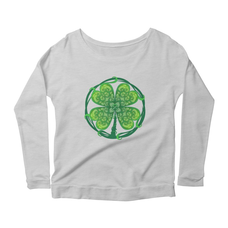 shamrock leaf Women's Longsleeve Scoopneck  by SOE