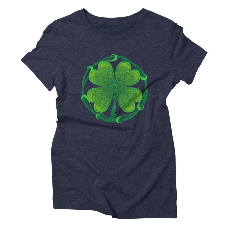 shamrock leaf Women's Triblend T-shirt by SOE