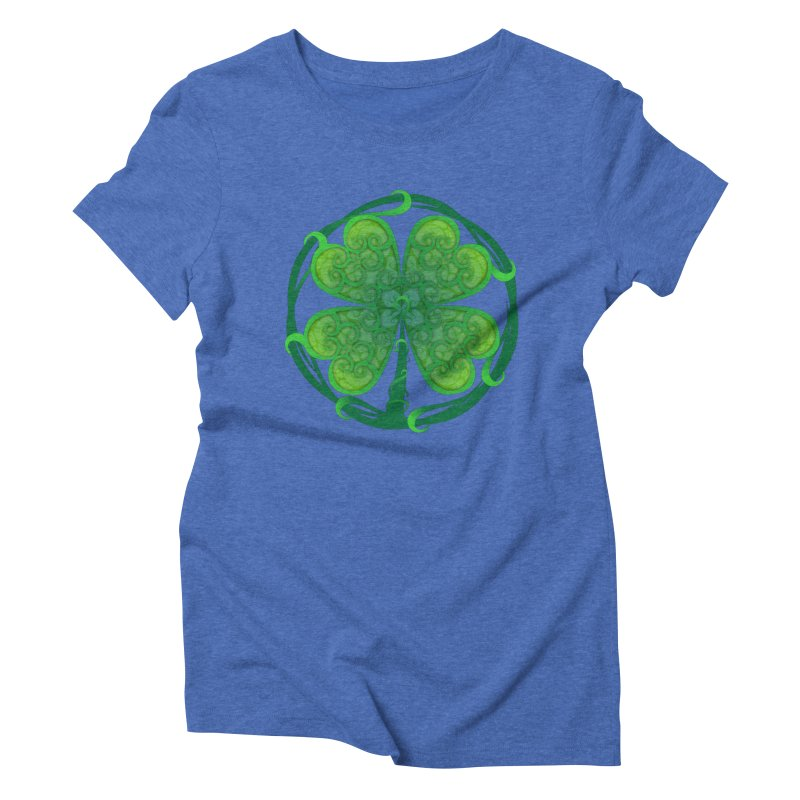 shamrock leaf Women's Triblend T-shirt by SOE