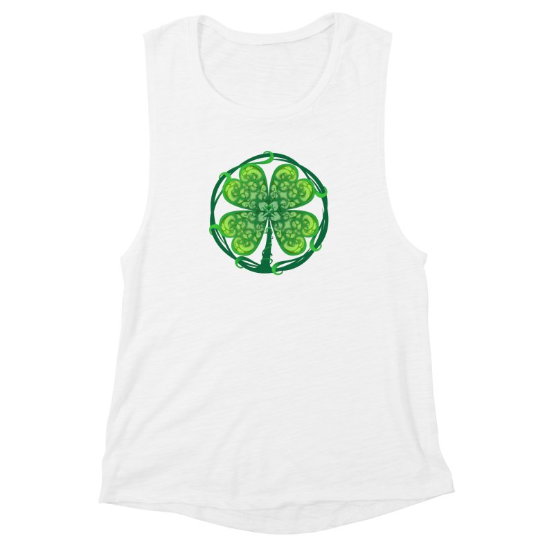 shamrock leaf Women's Muscle Tank by SOE