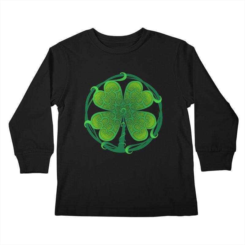 shamrock leaf Kids Longsleeve T-Shirt by SOE
