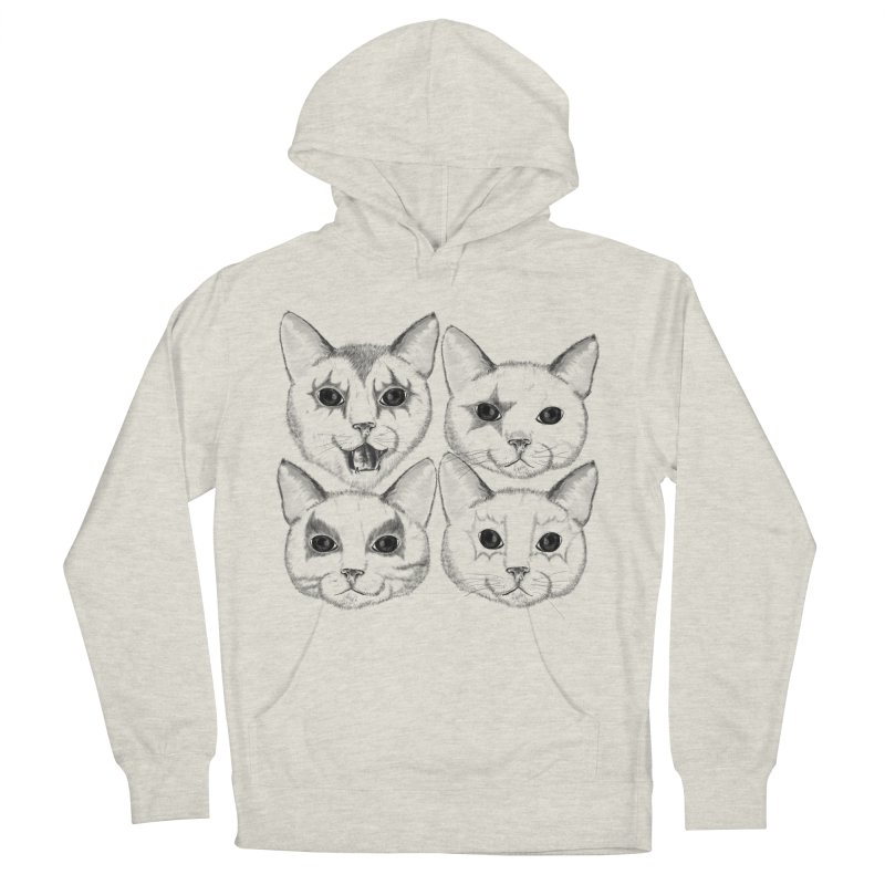 kiss cat Men's French Terry Pullover Hoody by SOE