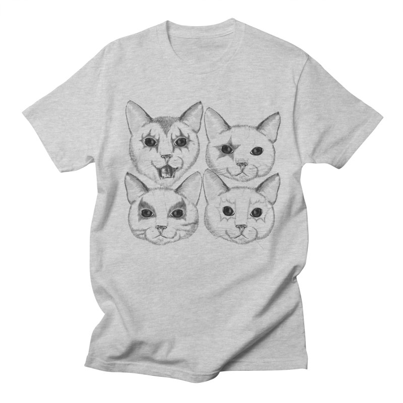 kiss cat Men's Regular T-Shirt by SOE