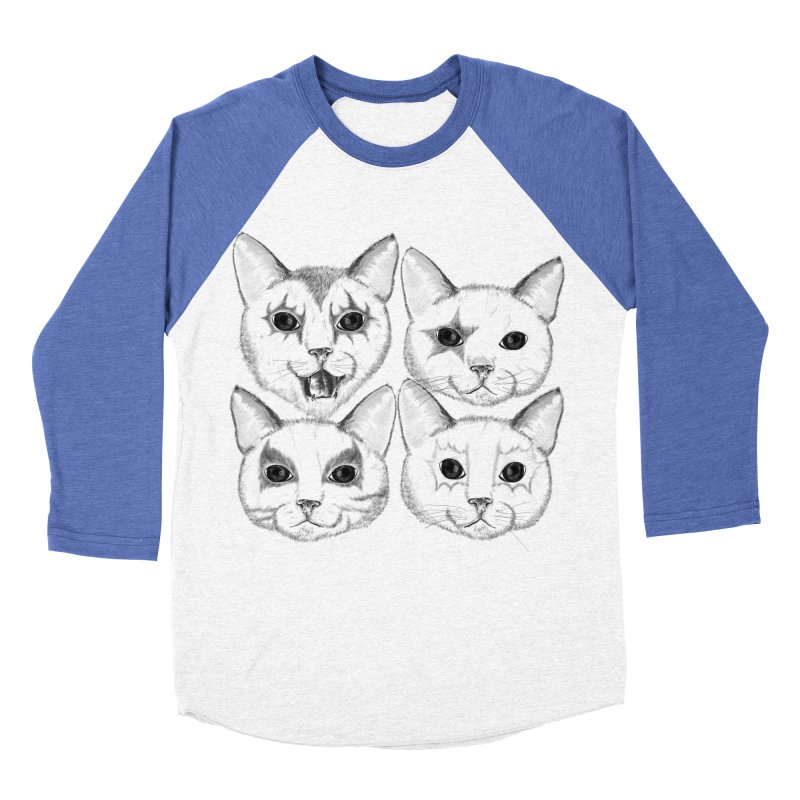 kiss cat Men's Baseball Triblend Longsleeve T-Shirt by SOE