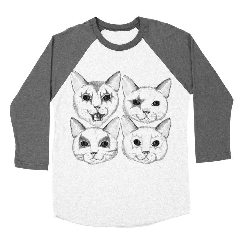 kiss cat Men's Baseball Triblend Longsleeve T-Shirt by SOE