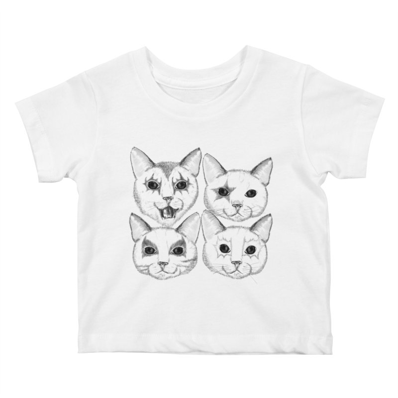 kiss cat Kids Baby T-Shirt by SOE