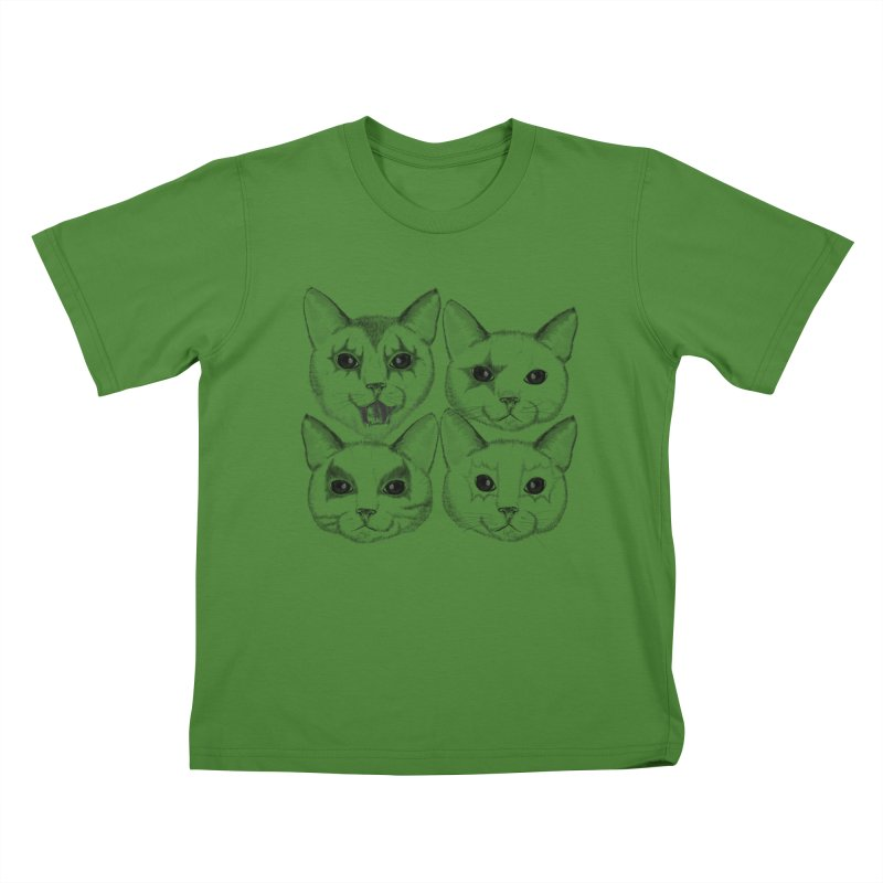 kiss cat Kids T-shirt by SOE