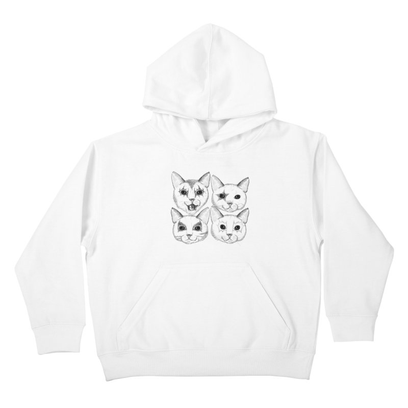 kiss cat Kids Pullover Hoody by SOE