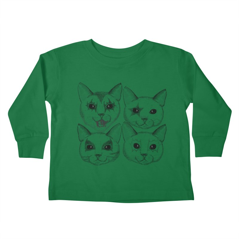 kiss cat Kids Toddler Longsleeve T-Shirt by SOE