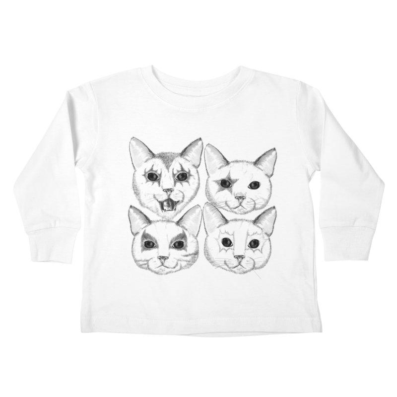 kiss cat Kids Toddler Longsleeve T-Shirt by SOE