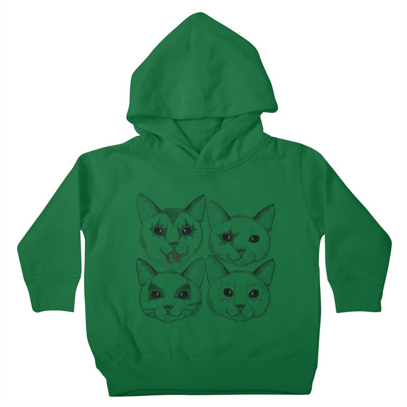 kiss cat Kids Toddler Pullover Hoody by SOE