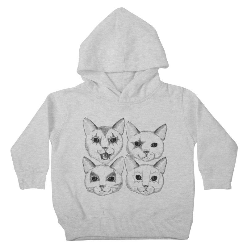 kiss cat Kids Toddler Pullover Hoody by SOE