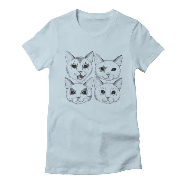 kiss cat Women's Fitted T-Shirt by SOE