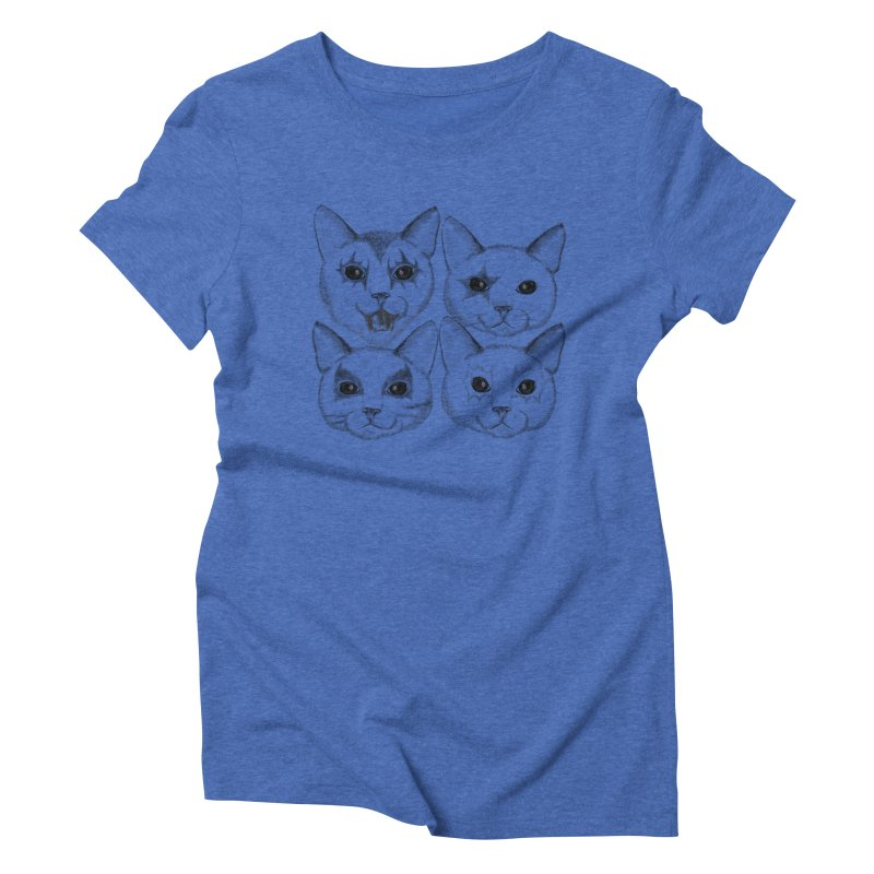 kiss cat Women's Triblend T-Shirt by SOE